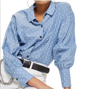 Topshop Star Button Down